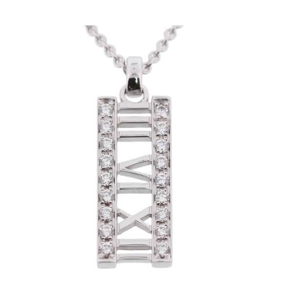 アトラス オープン バー ダイヤ ネックレス WG