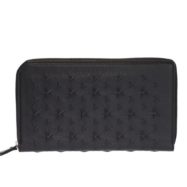 オーガナイザー スタースタッズ ラウンドファスナー長財布  ブラック(黒)×シルバー金具