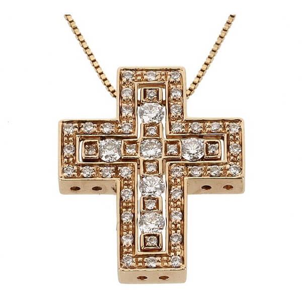 ベルエポック クロス ダイヤ ネックレス