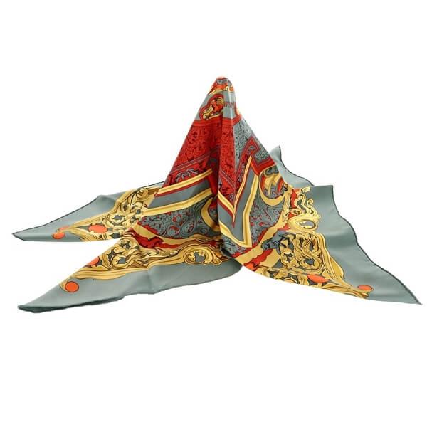 カレ90 シルクスカーフ ANIMAUX SOLAIRES